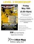 Krav Maga Level 2 Workshop - May 10th, 2019