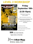 Krav Maga Level 2 Workshop - September 18th, 2020