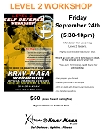 Krav Maga Level 2 Workshop - April 24th, 2020