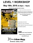 Krav Maga Level 1 Workshop - Feb. 22nd, 2019