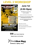 Krav Maga Level 2 Workshop - June 1st, 2018