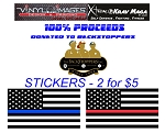 First Responder Stickers (Blue Line\Red Line)