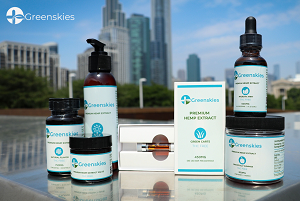 Pharmaceutical Grade CBD Products - Lotion, Oil, Capsules... Green Skies - 100% THC FREE