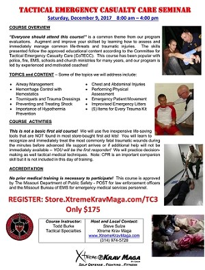 (Tc3) Tactical Emergency Trauma Course
