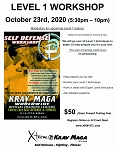 Krav Maga Level 1 Workshop - October 23rd, 2020 at FENTON