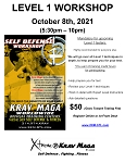 Krav Maga Level 1: Yellow Belt Workshop - April 23rd, 2021 at FENTON